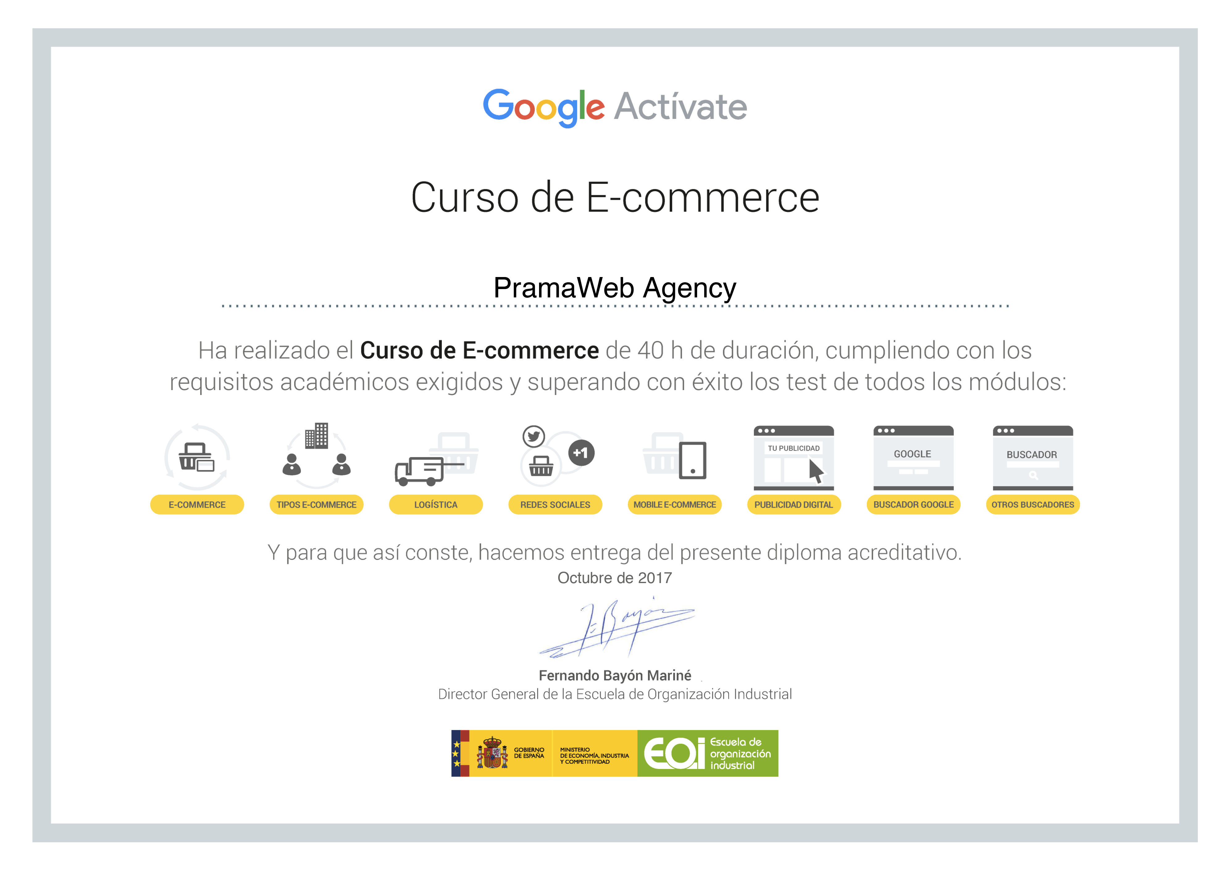 2) Curso E-Commerce