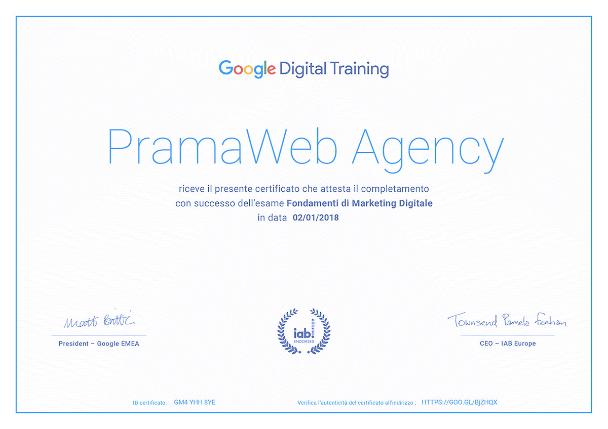 Google-Digital-Training---Certificato-PramaWeb